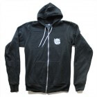Hobbledehoy - Small Logo Charcoal Zip-Hood