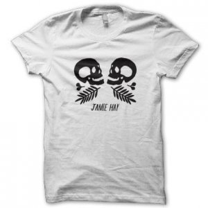 Jamie Hay - Skulls - White T-Shirt